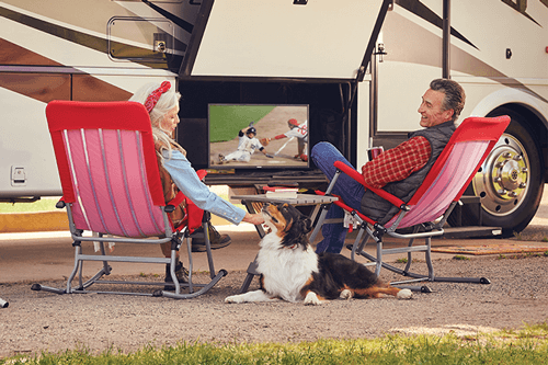 Watch DISH TV Outdoors in the RV- Asheville, NC - BR Electronics - DISH Authorized Retailer